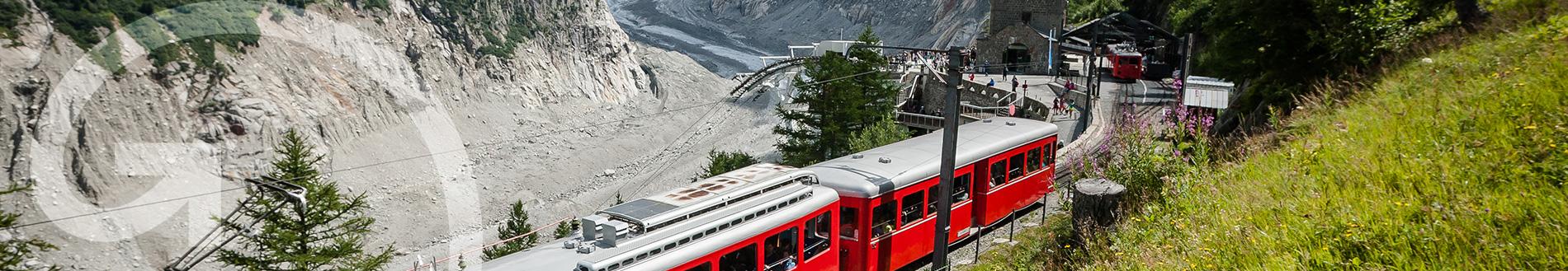 Chamonix train station Mer de Glace glacier MontBlanc Natural